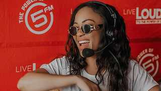 Thando Thabethe and her colleagues at 5FM accepted the #SAPSChallenge. Picture: Instagram
