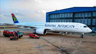 SAA's new Airbus A350-900 operated its first international flight from O.R Tambo International airport to New York's John F. Kennedy International Airport this week. Picture: Instagram/Flysaa.