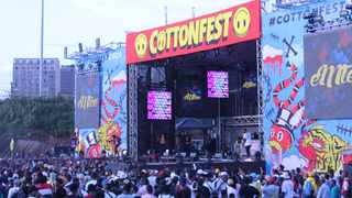 The main stage at Cotton Fest.