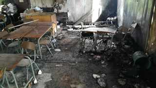 Inhlazuka Primary School, west of Umbumbulu, was torched early on Sunday morning. | SUPPLIED