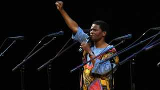 Ladysmith Black Mambazo founding member Joseph Shabalala gestures to the audience during the group's performance at the Kimmel Center in Philadelphia on 20 January 2008. The founder of the South African multi-Grammy-Award-winning music group Ladysmith Black Mambazo, Joseph Shabalala, has died at age 78. Shabalala died at a hospital in the capital Pretoria Tuesday, Feb. 11, 2020. Picture: Joseph Kaczmarek, File.