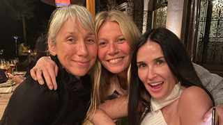 Alexandra Grant, Gwyneth Paltrow and Demi Moore. Picture: Instagram