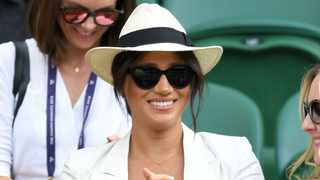 Meghan, Duchess of Sussex smiles as she attends day 4 of the Wimbledon Tennis Championships at the All England Lawn Tennis and Croquet Club on July 04, 2019 in London, England.Picture: Bang Showbiz