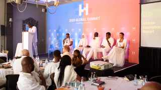 Panel discussion with entrepreneurs at The Harambeans Global Summit in Franschhoek. Photo: Aaron Polikoff