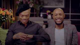 Somizi Mhlongo and Mohale Motaung. Picture: Showmax