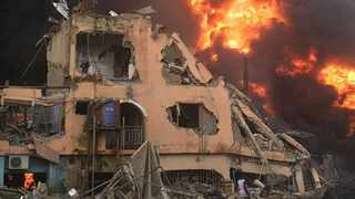 Seventeen people were killed and 25 were injured after a gas explosion in Nigeria. Picture: Lagos State Emergency Management Agency via Twitter