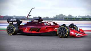 This is how a 2021 Formula One car would have looked. Picture: Formula One via YouTube.