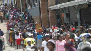 Thousands of Sassa grant recipients queue in Inanda, outside Durban. Picture: Doctor Ngcobo/African News Agency(ANA)