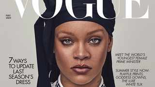Rihanna wearing a durag for Vogue. Picture: Instagram.