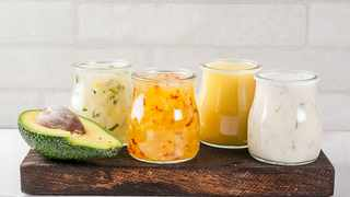 Homemade dressing. Picture: Supplied