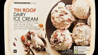 Woolworths Tin Roof ice-cream. Picture: Supplied