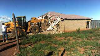 A house being demolished in Lawley Extension 2. Picture: Itumeleng English/African News Agency(ANA)