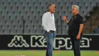 John Comitis, (right) the chairman of Cape Town City has informed Independent Media that they are considering implementing salary cuts as from next month. Photo: BackpagePix