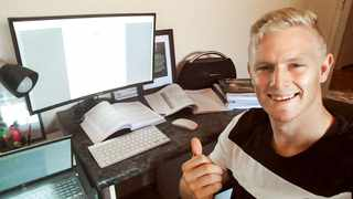 Springboks Sevens player Ryan Oosthuizen hits the books when he's not training of playing rugby. Photo: www.springboks.rugby