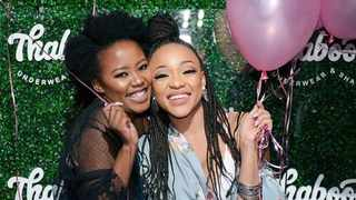 Mantsoe Pout and Thando Thabethe. Picture: Instagram