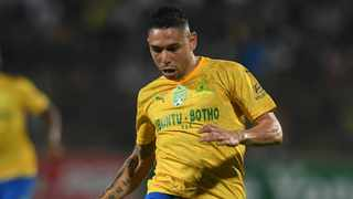 Mamelodi Sundowns Venezuelan winger Ali Meza has used the lockdown in South Africa to become a rather adept babysitter. Photo: Sydney Mahlangu/BackpagePix