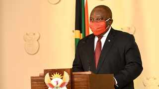 President Cyril Ramaphosa addressed the nation on Wednesday night and paid tribute to the 219 people who have died due to complications related to the coronavirus. Picture: GCIS