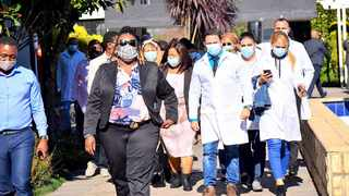 The Cuban medical experts arrived in KZN on Monday, with them in KZN Health MEC Nomagugu Simelane Zulu Picture:Supplied