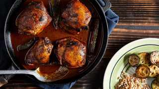 Spicy Chocolate Milk-Simmered Chicken. Photo by Tom McCorkle for The Washington Post.