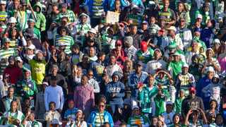 Bloemfontein Celtic supporters during an Absa Premiership at the Dr Molemela Stadium in Bloemfontein. Photo: Frikkie Kapp/BackpagePix