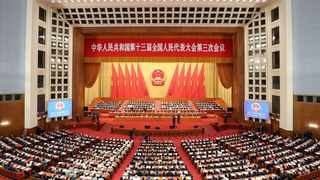 The closing meeting of the third session of the 13th National People's Congress (NPC) is held at the Great Hall of the People in Beijing, capital of China. Picture: Xinhua/Wang Ye