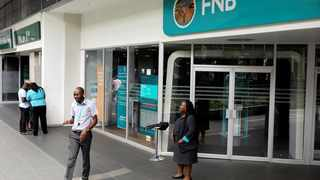 Activity on the FNB's banking app is also growing in double digit figures. Photo: Reuters