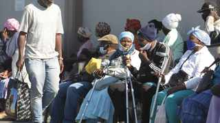 Thousands of pensioners queueing outside the KwaMashuPost Office in Durban to collect their pensions during the national lockdown. Picture: Bongani Mbatha/African News Agency (ANA)
