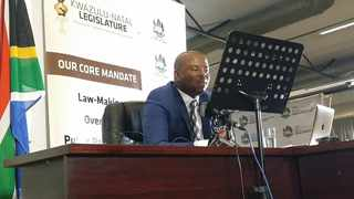 KZN Department of Cooperative Governance and Traditional Affairs MEC Sipho Hlomuka tabled the department's annual budget of R1.879 –billion in a virtual sitting of the Provincial Legislature today. Picture: Supplied