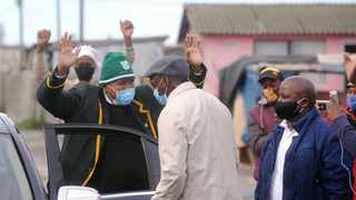 The Gugulethu community welcomes home community activist and rugby legend Broadhurst Cona who recovered from coronavirus. Picture: Ayanda Ndamane/African News Agency (ANA)