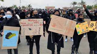 Residents of protest against gender based violence. Picture: Oupa Mokoena/African News Agency (ANA)