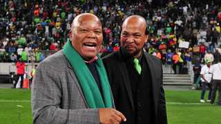 Acting Premier Soccer League (PSL) Chief Executive Officer (CEO), Mato Madlala (not pictured) is devastated about the loss of Free State Stars chairman, Mike Mokoena (left). Photo: Ryan Wilkisky/BackpagePix