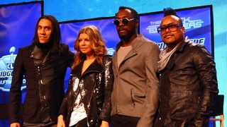 The Black Eyed Peas feature at the Bridgestone Super Bowl XLV Halftime Show Press Conference at the Sheraton Dallas. Picture: Bang Showbiz