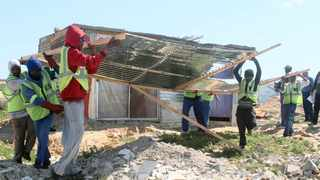 A City of Cape Town tender calling for bids from private companies to demolish illegal informal structures has left activists fuming. File picture: Lalinka Mahote/African News Agency