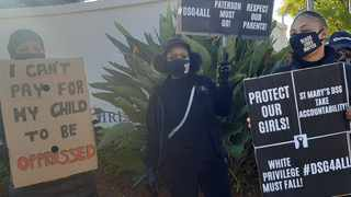 Parents of learners at the St Mary's Diocesan School for Girls protest against racism. Picture: Liam Ngobeni