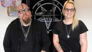 """Riaan Swiegelaar and Adri Norton Co-Founders of the South African Satanic Church. Picture"""" Brendan Magaar/African News Agency(ANA)"""