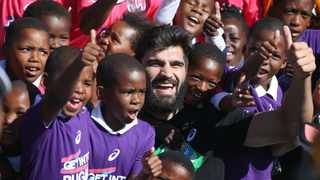 Damian de Allende during the SA Rugby 'Boks for Books' and 'Get into Rugby' festival in Mdantsane, East London. Picture: Roger Sedres/SA Rugby
