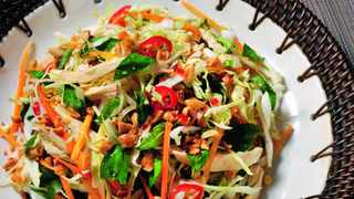 The cabbage and chicken salad with Vietnamese mint. Pic, Michael Fountoulakis