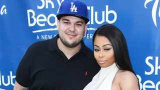 Rob Kardashian and Blac Chyna. Picture: Supplied/Bang Showbiz