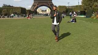 Enjoying the Eiffel Tower. Picture: Supplied.