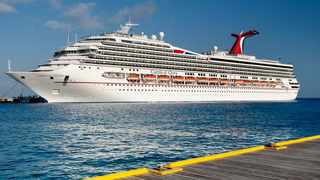The girl fell two stories from an interior deck on the Carnival Glory to another deck below while the cruise ship was docked at PortMiami. Picture: The Cruise Web.