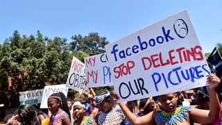 Maidens marched through Joburg yesterday to protest against media companies such as Facebook, who they say are discriminating against their culture. Picture: Nokuthula Mbatha