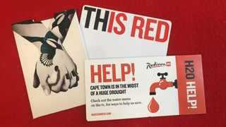 Radisson RED Cape Town has implemented H2O menus to help travellers. Picture: Supplied.