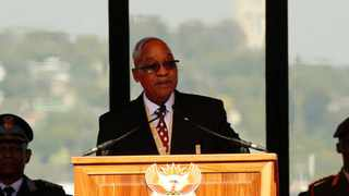 President Jacob Zuma delivers his inauguration speech at the Union Buildings in Pretoria in May 2009. Picture: Siphiwe Sibeko/AP