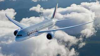 The passenger aircraft embarked on its first commercial flight to London last Saturday. Picture: Qatar Airways.