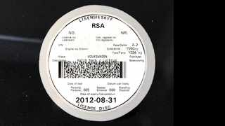 Hopefully the disc on your vehicle is not as badly out of date as this one. File photo: Chris Collingridge / INLSA
