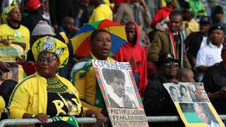 Mourners gather in Orlando stadium before the funeral of the late Winnie Madikizela-Mandela in Soweto. Picture: Philimon Bulawayo/Reuters