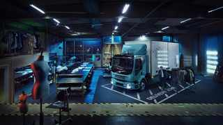 You can even drive an electric truck right inside the customer's premises.