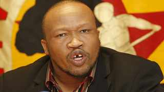06/08/2010 Irvin Jim General Secretary of NUMSA during a media statement on the planned Auto Industry strike action held at their offices in JHB. (564) Photo: Leon Nicholas