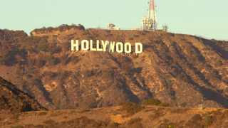 The famed Hollywood Sign.