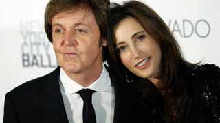 Former Beatle Paul McCartney and his new wife, New York heiress Nancy Shevell.